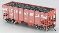 19504 Bachmann вагон-хоппер 4-хосный 55 Ton 2-Bay USRA Outside Braced Hopper With Removable Coal Load Western Maryland® (Speed Lettering)