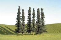 32003 Bachmann набор деревьев 12-15 см высотой 6 шт. 5in.- 6in.Conifer Trees - 6Pcs/Pk(Hard pack)