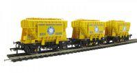 38-286 Bachmann Branchline набор вагонов 3 шт. Triple Pack 22 Ton Presflo Wagons 'Blue Circle' Yellow