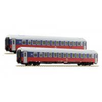 48 012-1/2 LS Models Вагоны в окрасе 1998 РЖД эпоха V 1/87 набор 2 шт.