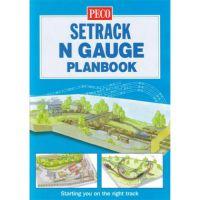 IN-1 Peco альбом рельсовых схем в масштабе 1:160 Peco N Setrack Planbook