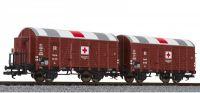L230136 Liliput набор вагонов Hilfs-Lazarettwagen-Set, 2-teilig, DRB, Epoche II