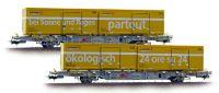 "L240038 Liliput набор вагонов 2 шт. Containertragw.-Set IV 2tlg ""Schweizer Post"" Ep.V"