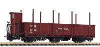 L245400 Liliput вагон offener Wagen 3-achs, Olm, mit Stahlrungen, DR, Ep.II